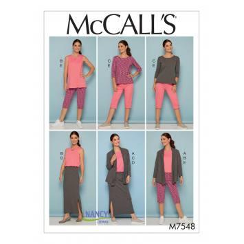 Patron Mc Call's M7548 Ensemble pour jeune femme Taille 36-44