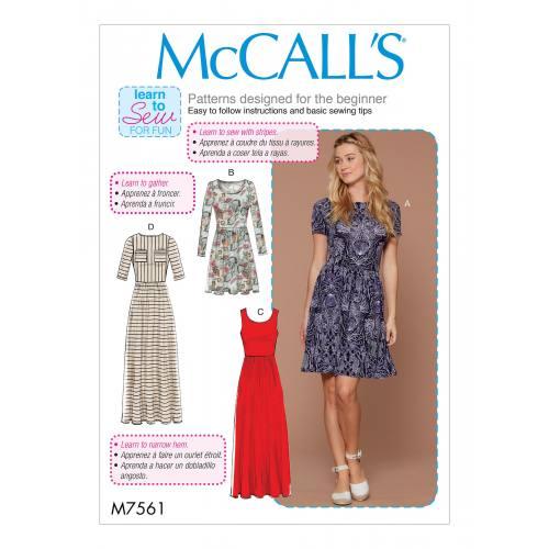 Patron Mc Call's M7561 : Robes pour jeune femme 32-42