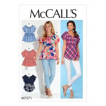 Patron Mc Call's M7571 Hauts pour jeune femme 42-50