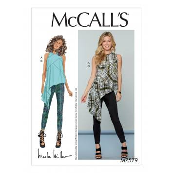 Patron Mc Call's M7579 Haut et pantalon pour jeune femme 42-50