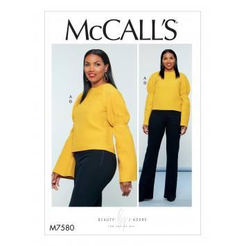 Patron Mc Call's M7580 Haut et pantalon pour jeune femme 34-42