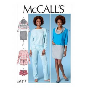 Patron Mc Call's M7517 Robe et ensemble pour jeune femme 44-52