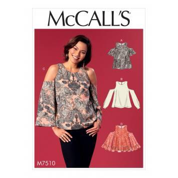 Patron Mc Call's M7510 Hauts pour jeune femme 42-50