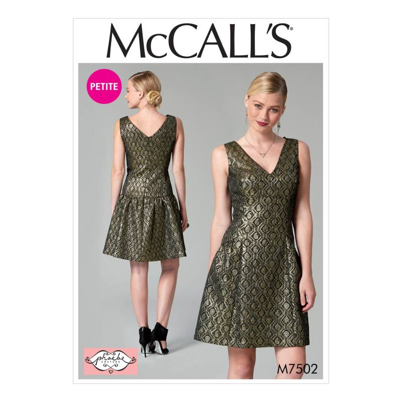 9ab83e666be Patron Mc Call s M7502   Robe pour femme 42-50 pas cher - Tissus Price