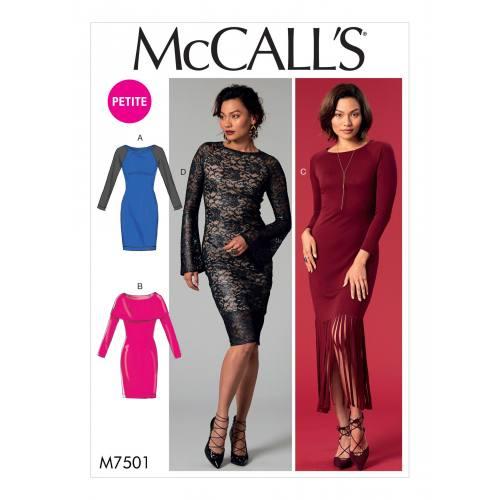 Patron Mc Call's M7501 : Robes pour jeune femme 34-42
