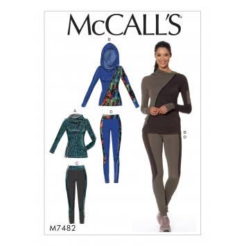Patron Mc Call's M7482 : Ensemble de sport pour jeune femme 42-50