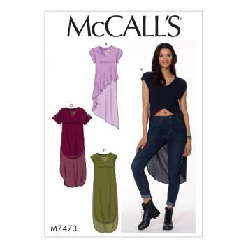 Patron Mc Call's M7473 : Tuniques pour jeune femme 34-42