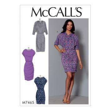 Patron Mc Call's M7465 : Robe pour jeune femme 34-42