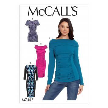 Patron Mc Call's M7467 : Haut, tunique et robes pour jeune femme 42-50