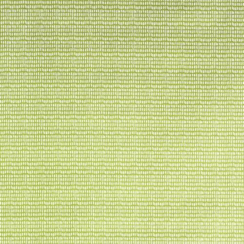 Coton vert tilleul imprimé petit trait