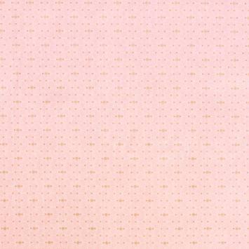 Coton pêche imprimé géométrique blanc et or