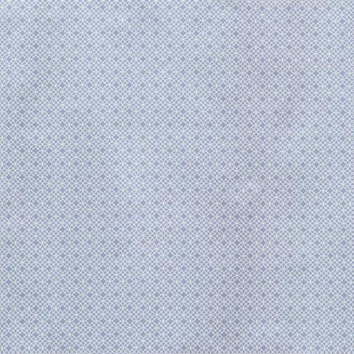 Coton bleu imprimé étoile et cercle