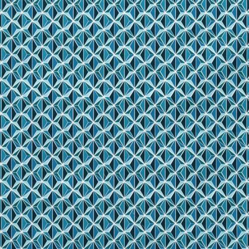 Coton bleu imprimé kirigami