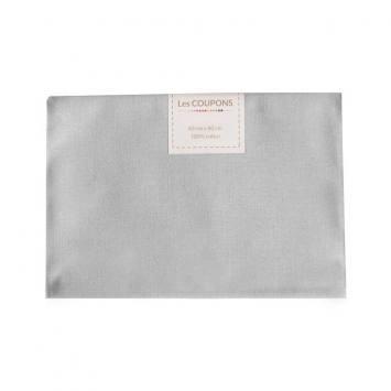 Coupon 40x60 cm coton uni gris clair
