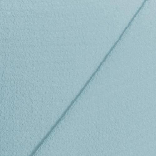 Tissu crêpe gaufré bleu ciel