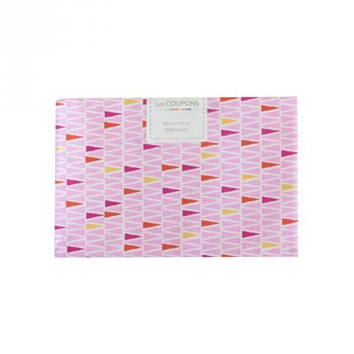 Coupon 40x60 cm coton oyan rose