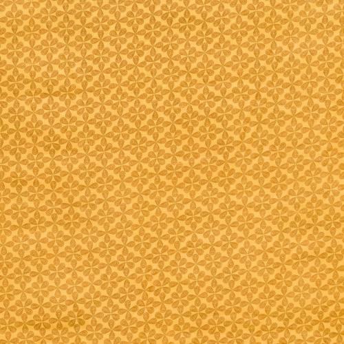 Polycoton imprimé trèfle jaune