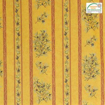 Tissu provençal jaune Clos des oliviers