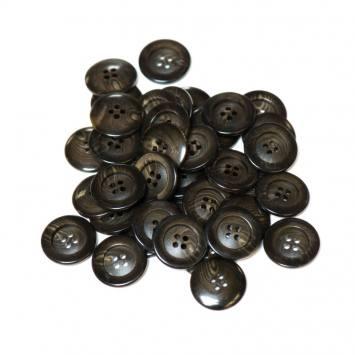 Lot d'environ 90 boutons marron dégradé 22 mm