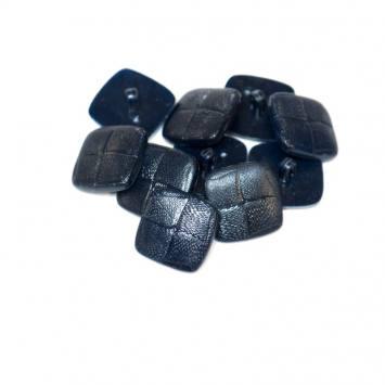 Lot d'environ 60 boutons bleu marine carrés 22mm