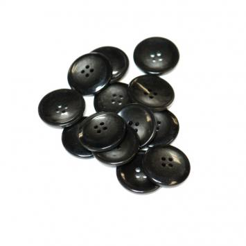 Lot d'environ 50 boutons noirs 27mm