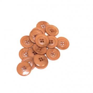 Lot d'environ 90 boutons fauve dégradé 22mm
