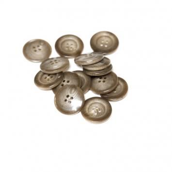 Lot d'environ 90 boutons châtains dégradés 22mm