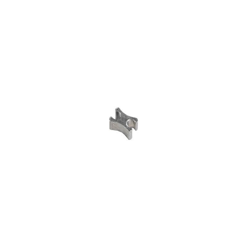 Arrêt argent 6 mm pour fermeture à glissière