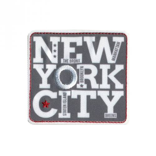 "Écusson ""NYC"" thermocollant gris"