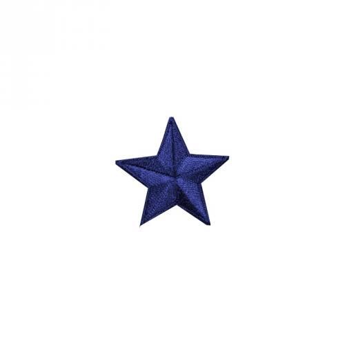 """Écusson brodé """"Étoile"""" thermocollant bleu"""