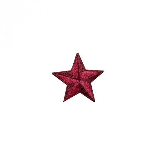 """Écusson brodé """"Étoile"""" thermocollant rouge"""