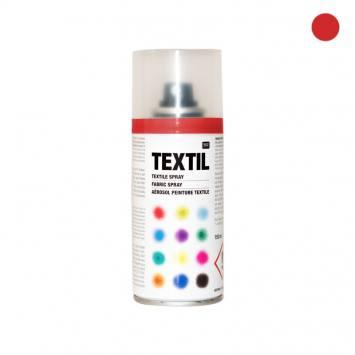 Bombe de peinture textile rouge 150ml