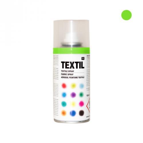 Bombe de peinture textile vert fluo 150ml
