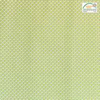Coton imprimé éventails verts et or