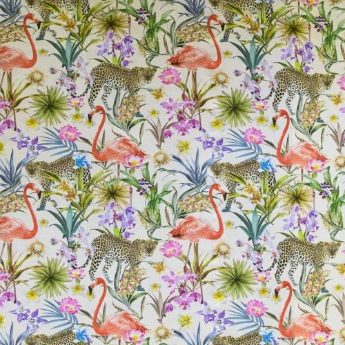 Toile coton impression numérique nature tropicale