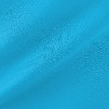 Jersey uni bleu turquoise