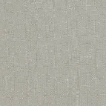 Toile polyester aspect lin gris perle