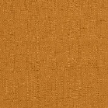 Toile polyester aspect lin orange clair