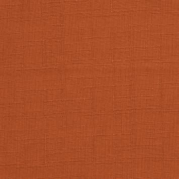 Toile polyester aspect lin orange