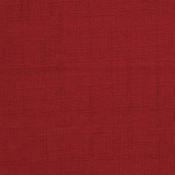 Toile polyester aspect lin rouge