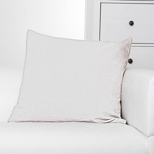 Toile polyester aspect lin blanc
