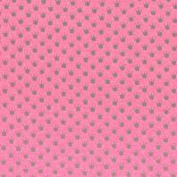 Tissu molleton French Terry chiné fuchsia imprimé couronnes