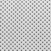 Tissu molleton French Terry chiné gris clair imprimé couronnes
