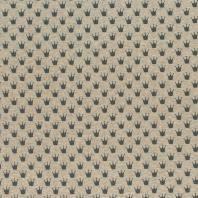 Tissu molleton French Terry chiné beige imprimé couronnes