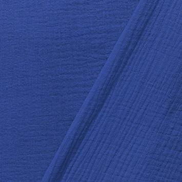Double gaze unie bleu roi
