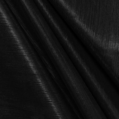 Maille lurex côtelé noire