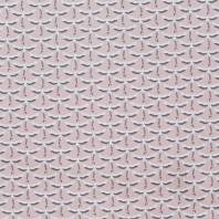 Coton rose imprimé grue