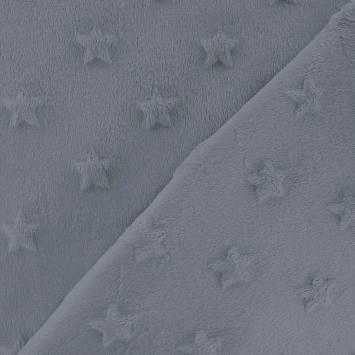 Minky vert bleu relief étoiles
