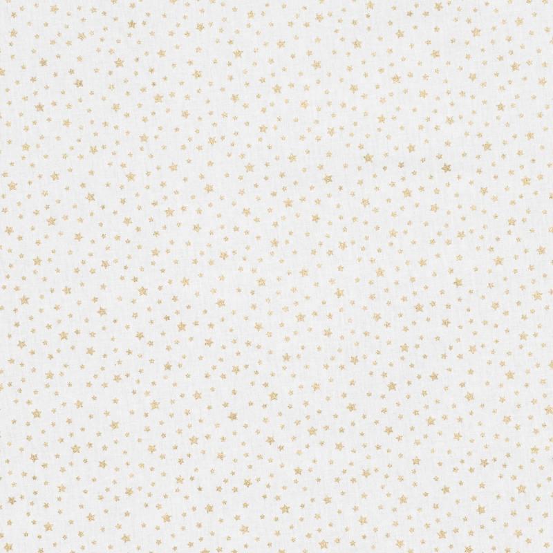 coton no l blanc imprim toiles dor es pas cher tissus price. Black Bedroom Furniture Sets. Home Design Ideas