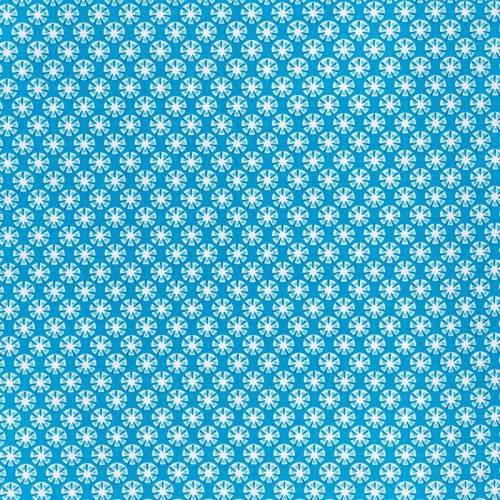 Coton sotang turquoise et blanc